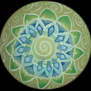 Bodypainting Mandala grün