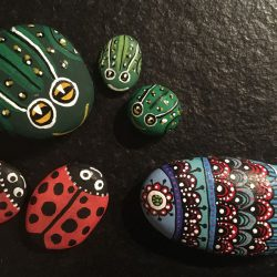 Steine bemalen - Tiere